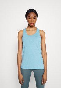 Nike Performance - YOGA LAYER TANK - Sportshirt - cerulean heather/glacier blue/light armory blue - 0