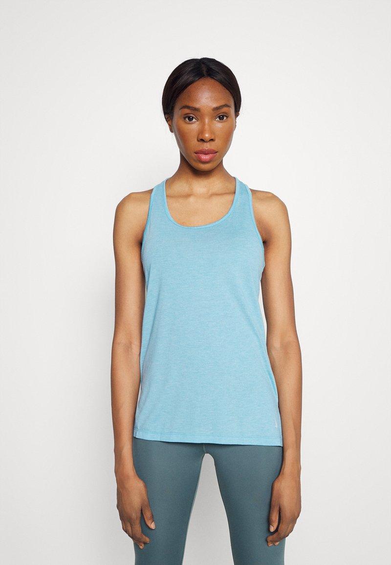 Nike Performance - YOGA LAYER TANK - Sportshirt - cerulean heather/glacier blue/light armory blue