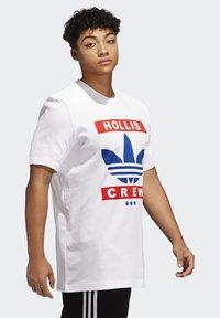 adidas Originals - RUN DMC TEE - Camiseta estampada - white /black /scarlet red - 3