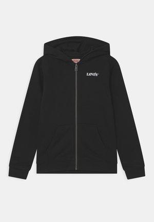 BASIC HOODIE UNISEX - veste en sweat zippée - black