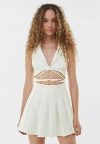 Bershka - Cocktail dress / Party dress - white - 0