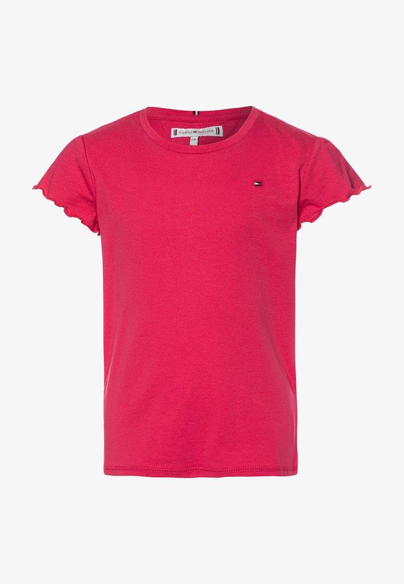 Tommy Hilfiger - ESSENTIAL RUFFLE SLEEVE - Camiseta estampada - pink