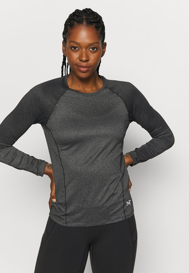 TOLU TOP LS WOMEN'S - Long sleeved top - black