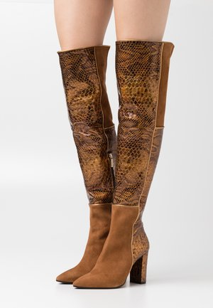 CAMELIE  - High heeled boots - saura strip bronzo