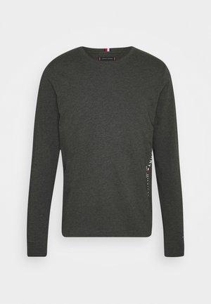 LOGO LONG SLEEVE - T-shirt à manches longues - dark grey heather