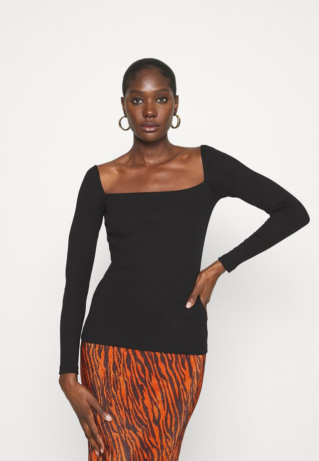 REDEZIGN - T-shirt à manches longues - black