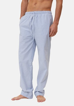 Pyjama bottoms - lightt blue/white