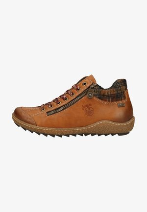 Platform ankle boots - cayenne/whisky