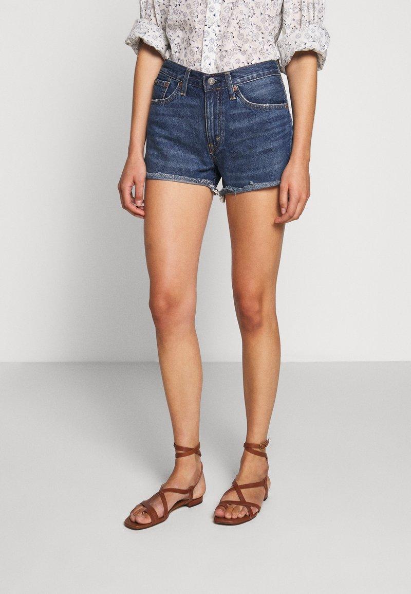 Polo Ralph Lauren - SPHIA CUTOFF - Denim shorts - medium indigo