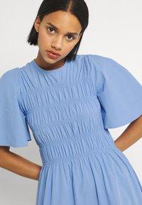 YAS - YASMARVIS LONG DRESS  - Maxi dress - cornflower blue/blue block - 3