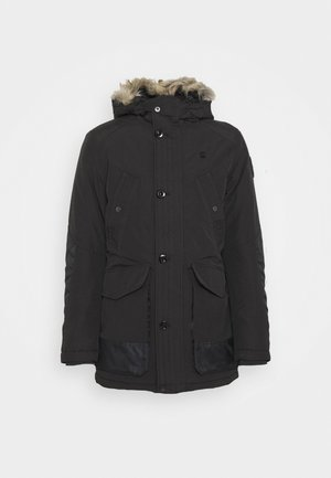 VODAN PDD HDD FAUX FUR PARKA - Wintermantel - dark black