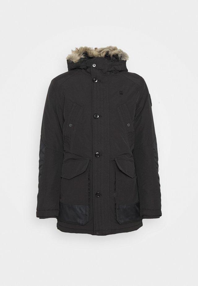 VODAN PDD HDD FAUX FUR PARKA - Abrigo de invierno - dark black
