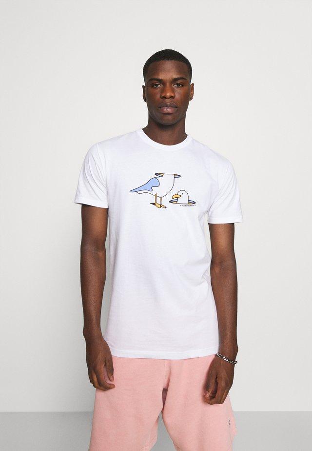 LOST HEAD - Print T-shirt - white