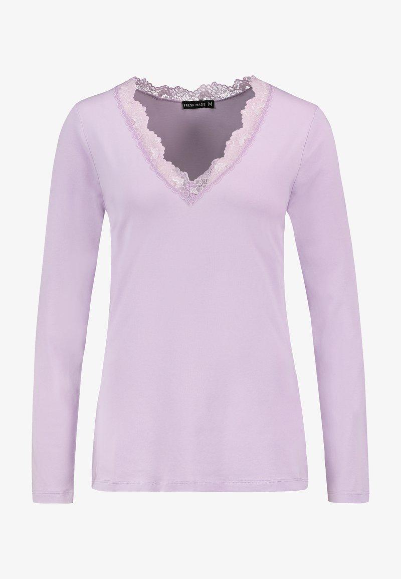 Fresh Made - LONG SLEEVE - Long sleeved top - light purple