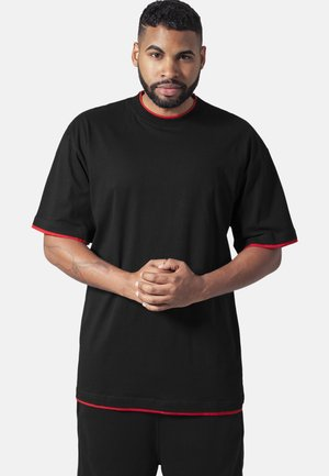 T-shirt basic - black/red