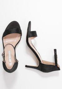 Dorothy Perkins - BESSIE HEATSEAL 2 PART  - Sandals - black - 3