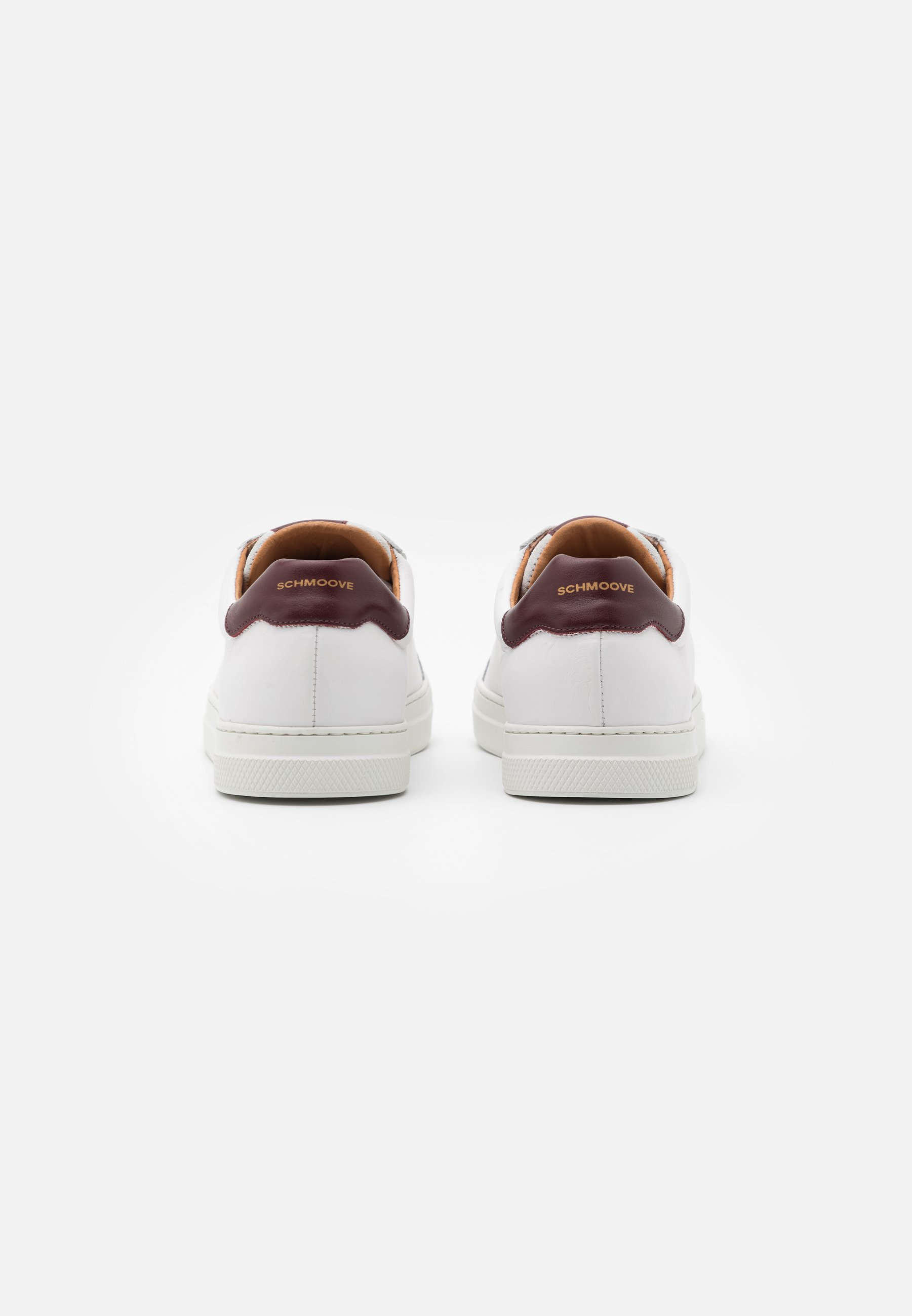 Schmoove SPARK CLAY - Sneaker low - white/bordeaux/weiß - Herrenschuhe YGO0c