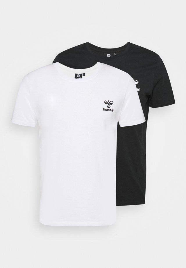 RIVER 2 PACK - T-shirt basique - black/white