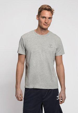 HMLSIGGE - Print T-shirt - grey melange