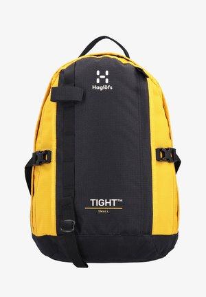 TIGHT SMALL - Rucksack - true black/pumpkin yellow
