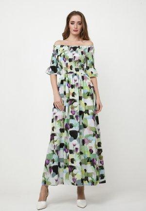 Maxi dress - weiß/hellgrün