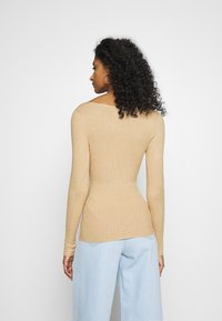 Even&Odd - BASIC- V-neck jumper - Svetr - sand - 2