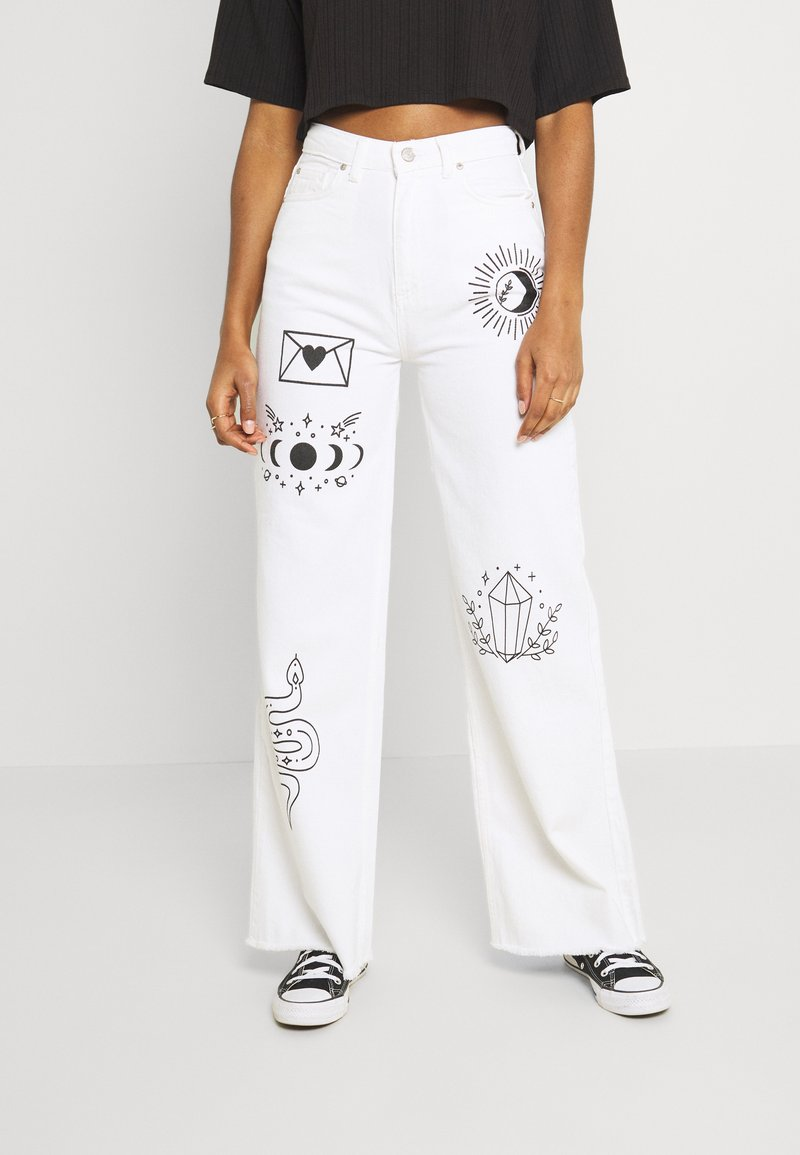 Trendyol - Jeans relaxed fit - white