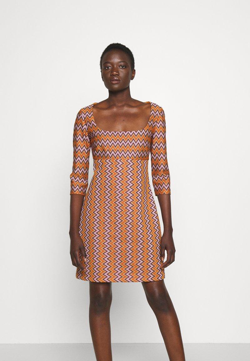 M Missoni - Shift dress - pumpkin/giallo/blood/candy