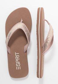 Esprit - GLITTER THONGS - T-bar sandals - cream beige - 3