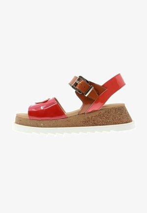 HIT - Sandales à plateforme - rojo