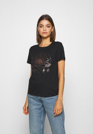 ONYRANDI HOROSCOPE - T-shirt con stampa - black