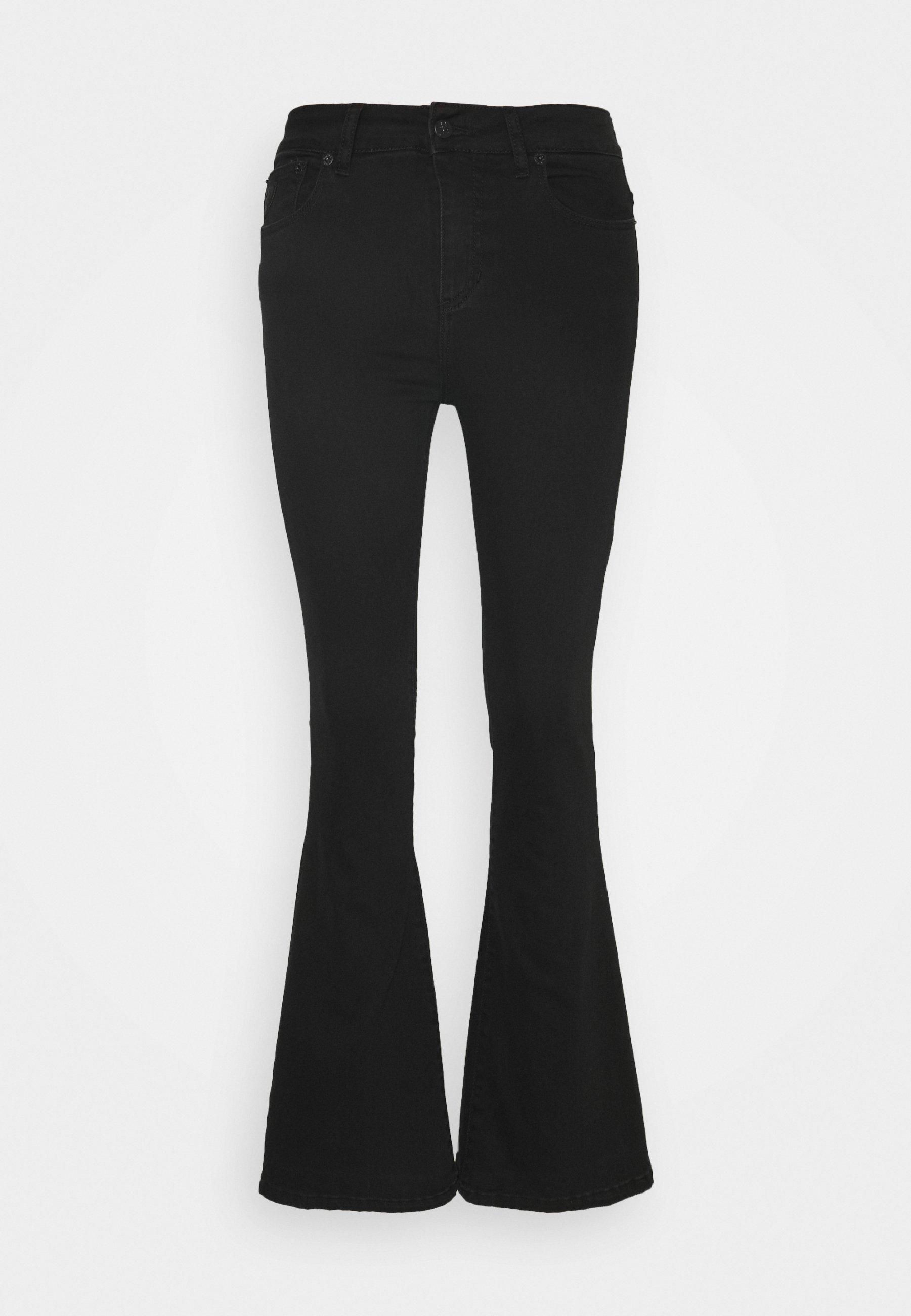 Pink Melrose Velour Solid Bukser | Lois | Boot cut Jeans