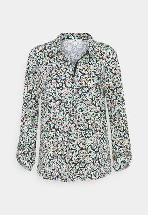 PRINTED WITH COLLAR - Long sleeved top - navy