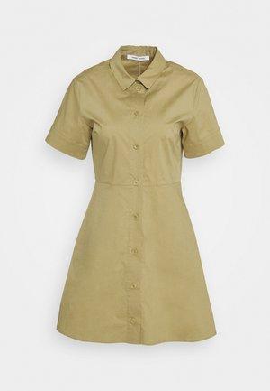 BARBARA SHORT DRESS - Shirt dress - olive grey
