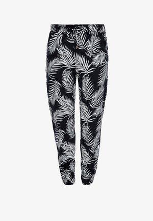 LEICHTE STOFFHOSE - Leggings - Trousers - navy aop leafs