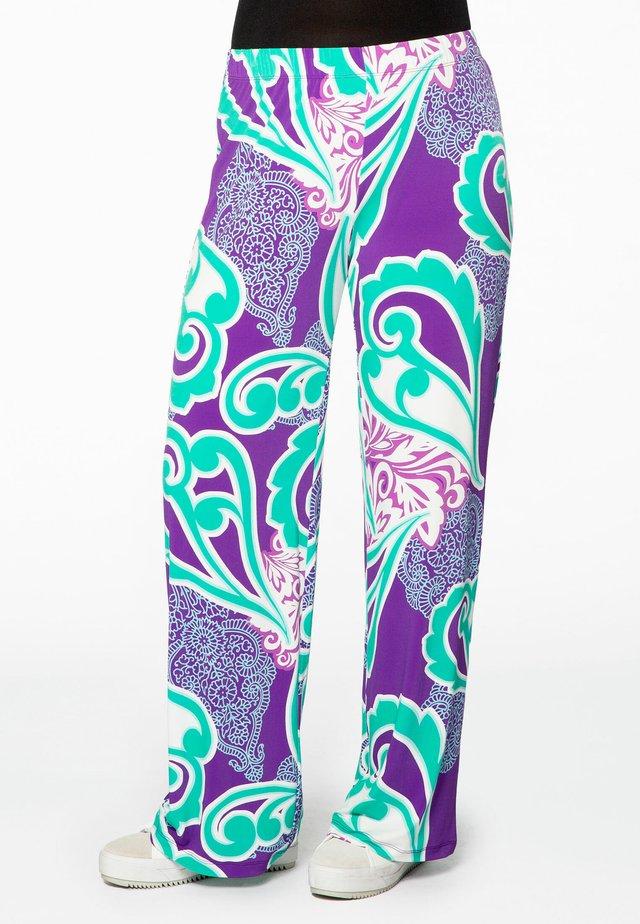 MIT DRUCK - Pantalon classique - blue
