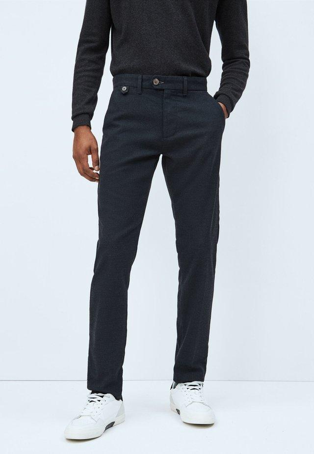 Pantalones chinos - deepsea blau