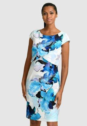 Shift dress - blau/schwarz/off-white