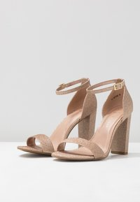 New Look Wide Fit - WIDE FIT TARONA  - Sandales à talons hauts - rose gold - 4