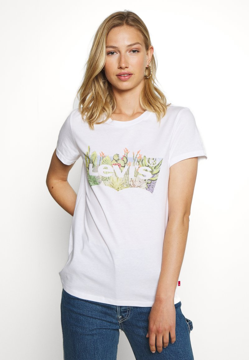 Levi's® - THE PERFECT TEE - T-shirt z nadrukiem - white