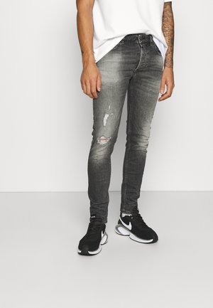 MORTEN DESTROYED - Slim fit jeans - dark grey