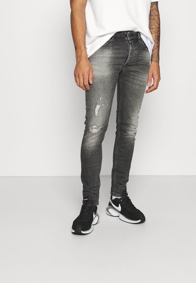 Tigha - MORTEN DESTROYED - Jeans slim fit - dark grey