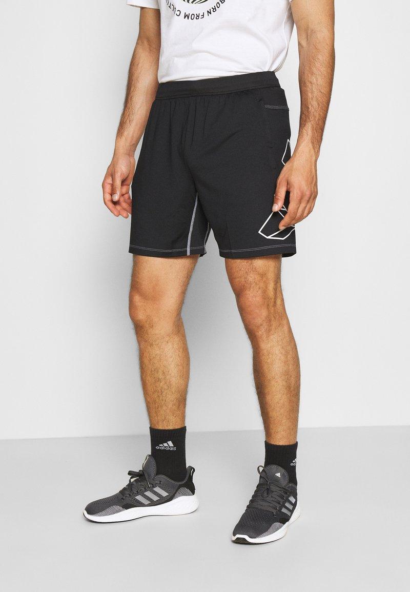 adidas Performance - HYPE SHORT - Sportovní kraťasy - black