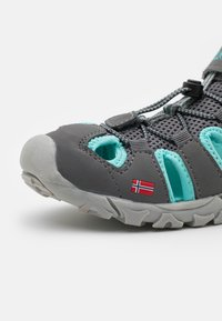 TrollKids - KIDS KRISTIANSAND UNISEX - Walking sandals - grey/mint - 5
