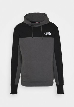 HMLYN HOODIE - Bluza z kapturem - vanadis grey/black