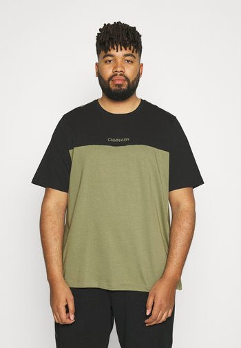 COLOR BLOCK - Basic T-shirt - delta green