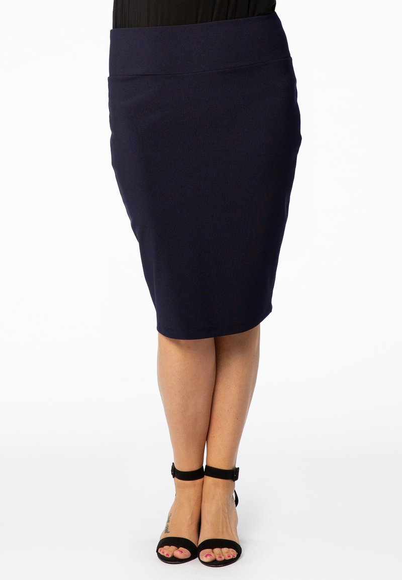 Yoek - JUPE BASIS - Pencil skirt - navy