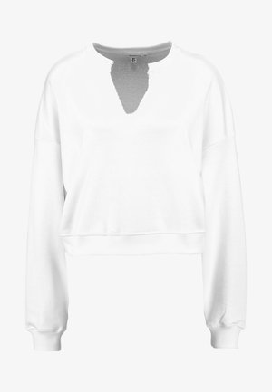 FRONT SWEAT - Sweatshirt - white