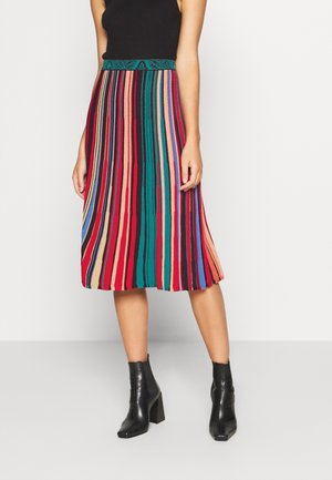 STRIPED SKIRT - Gonna a campana - red