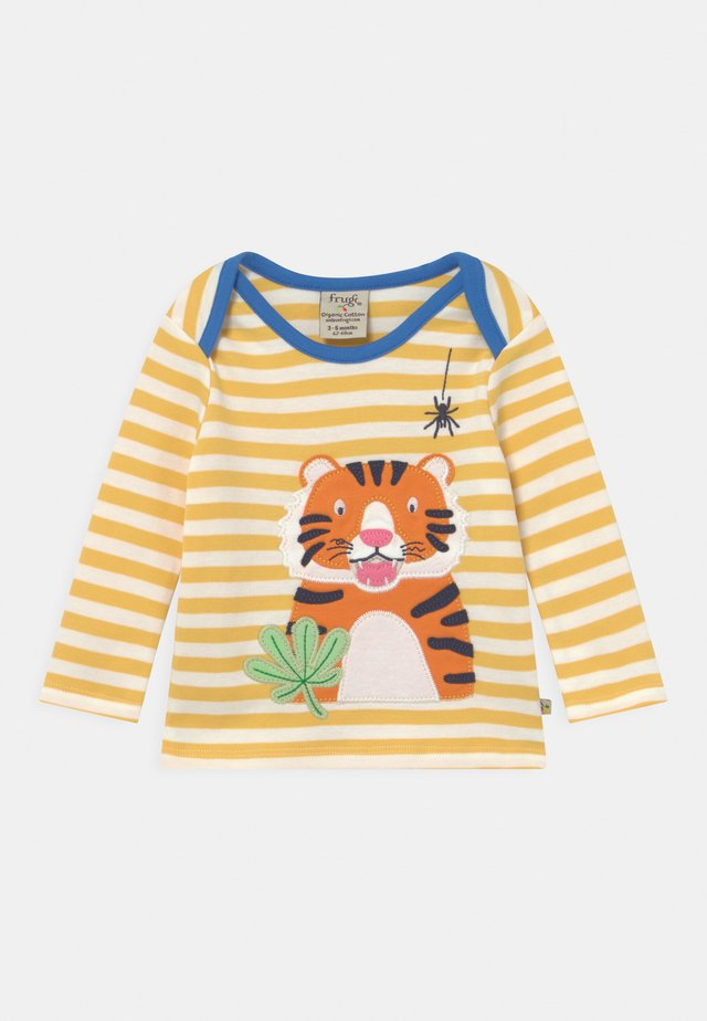 BOBBY APPLIQUE TIGER UNISEX - Camiseta de manga larga - yellow